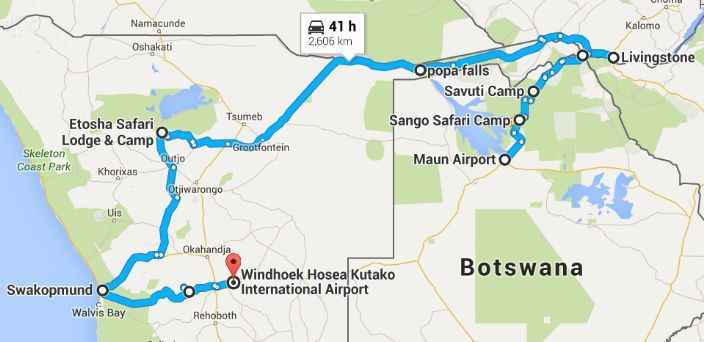 Namibia Windhoek Victoria Falls Self Drive Safari One Way 14 days