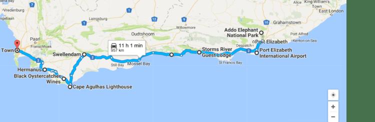 Victoria falls chobe swaziland garden route cape town safari 18 days - Cape town to port elizabeth itinerary ...