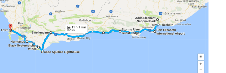 S dafrika selbstfahrer rundreise malaria frei 17 tage - How far is port elizabeth from cape town ...